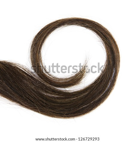 Curl isolated - stock photo