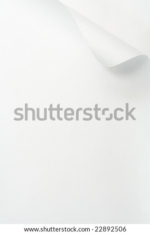 Curled page. - stock photo