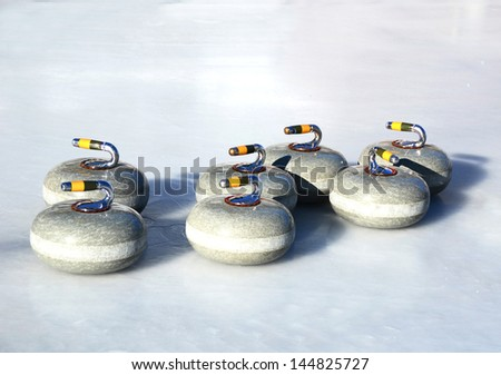 Curling stones - stock photo