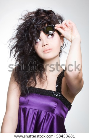 Curlyhead looking curious - stock photo