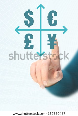 currency chart - stock photo