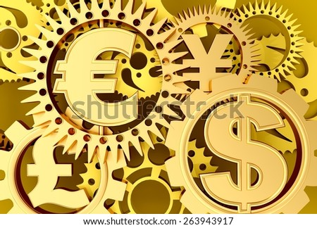Currency. 3D. Time - Money - stock photo
