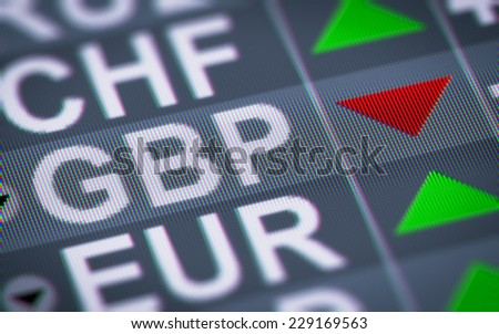 Currency exchange rate. - stock photo
