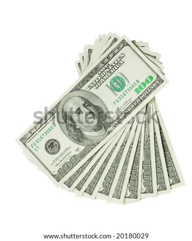 currency. money isolated on white - stock photo