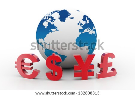 Currency of the World - stock photo