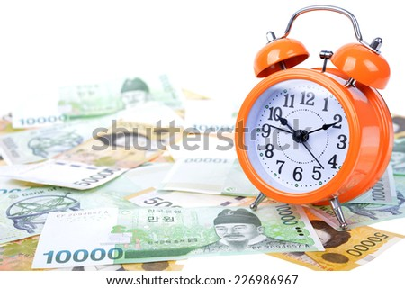Currency on banknote money background - stock photo