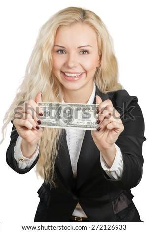 Currency, Savings, Women. - stock photo