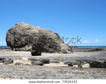 Currumbin Rock, Gold Coast, Australia - stock photo