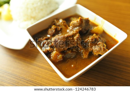 curry , indian food - stock photo