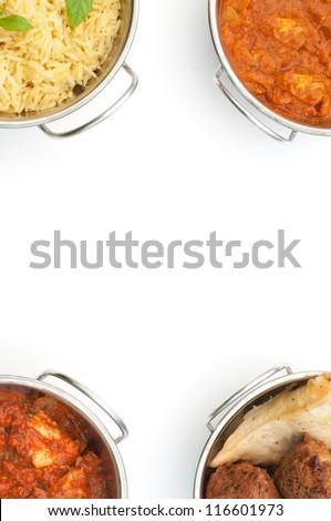 Curry menu background - stock photo