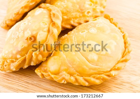 Curry puff - stock photo
