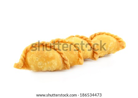 Curry Puff pastry - stock photo
