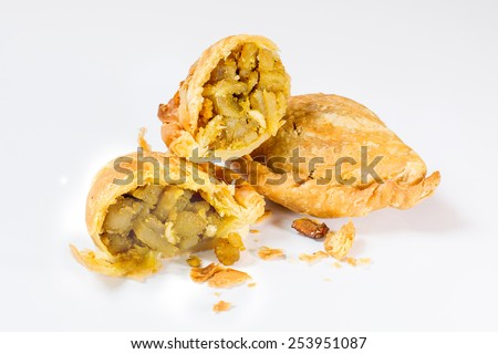 Curry Puff pastry, delicious - stock photo