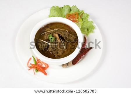 Curry Rogan Josh or Bhuna Gosht or Lamb Curry Favourite Indian Dish - stock photo