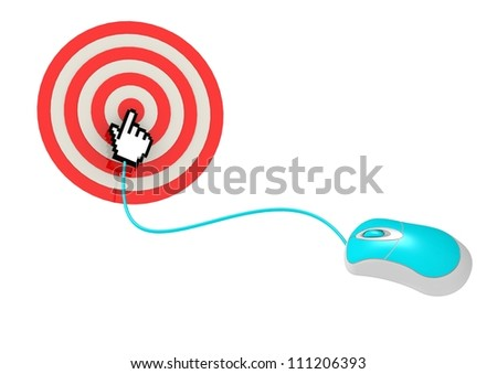 Cursor hand points to select - stock photo