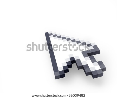 Cursor in perspective - stock photo