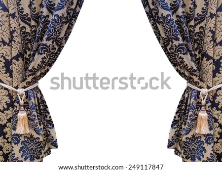 curtain isolated on white background. - stock photo