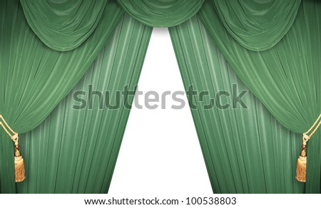 curtain of a classical theater - stock photo