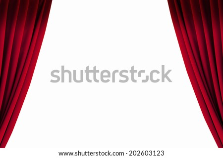 Curtain Of The Stage - stock photo