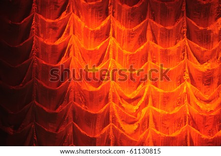 Curtain of theater - stock photo