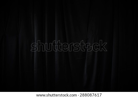 curtain or drapes dark background - stock photo