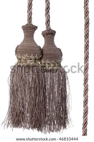 Curtain Tassel - stock photo