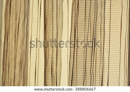 Curtain - tulle. Background. - stock photo