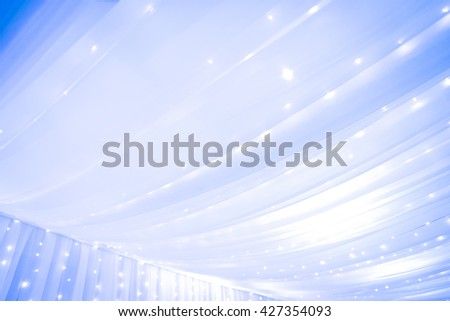 Curtains for interior decoration. abstract background - Purple - Blue tone - stock photo
