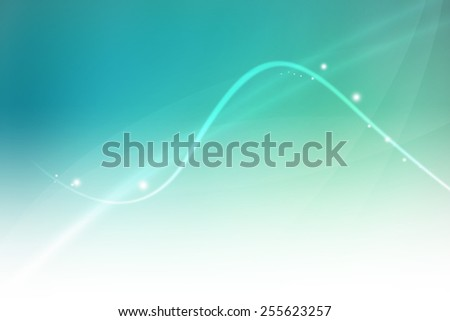 curve line on soft green to blue gradient color abstract background - stock photo