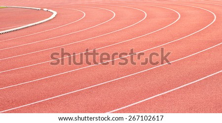 Curve of a Running Track. Sport racetrack - stock photo