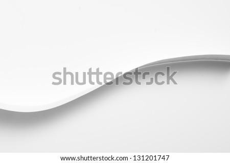 curve paper - stock photo