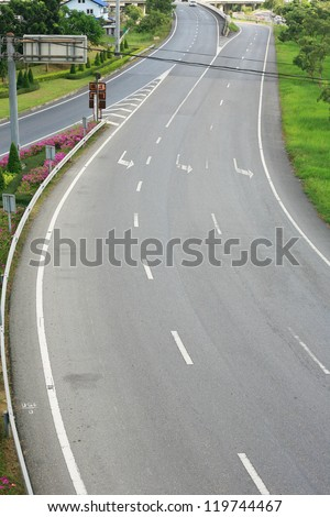 curve road - stock photo