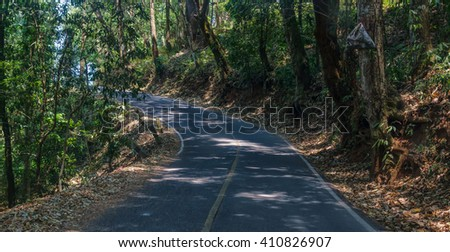 Curve Roads at road doipui Chiang mai, thailand. - stock photo