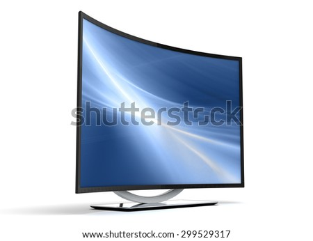 Curve TV - stock photo
