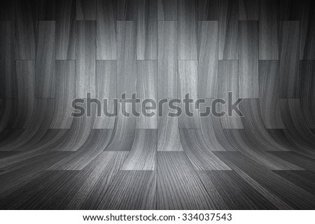 Curved black background - stock photo