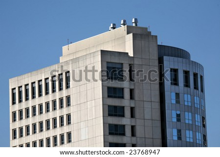 Curved Building, Houston(Release Information: Editorial Use Only. Use of this image in advertising or for promotional purposes is prohibited.) - stock photo