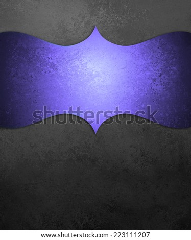curving purple ornamental design element on black chalkboard background, blank copyspace for text, elegant formal background with vintage texture, luxury background - stock photo