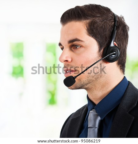 Customer male representative - stock photo