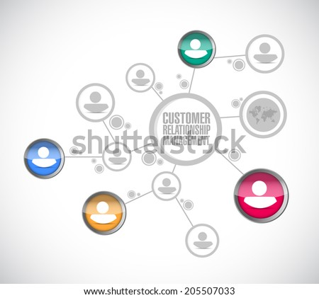 customer relationship management, business diagram. illustration design over a white background - stock photo