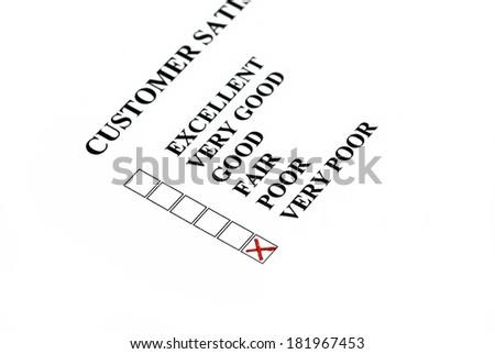 Customer satisfaction: customer chose is very poor. - stock photo