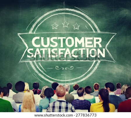 Customer Satisfaction Support Service Quality Concept - stock photo