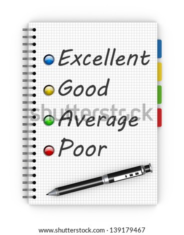 Customer satisfaction survey form with pen - stock photo