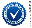 Customer service and support icon or symbol isolated on white background - stock photo
