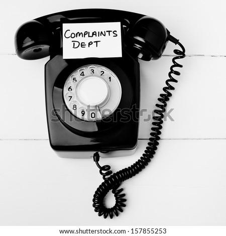 Customer service complaints department concept - stock photo