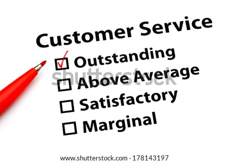 Customer service performance form - stock photo