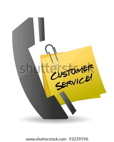 customer service phone concept illustration design on white - stock photo