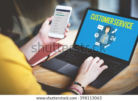 Customer Service Satisfaction Assistance Support Concept - stock photo