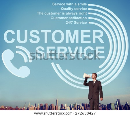 Customer Service Support Assistance Call Centre Agent Concept - stock photo