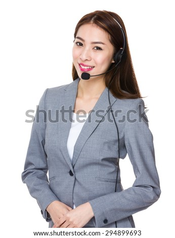 Customer services agent - stock photo