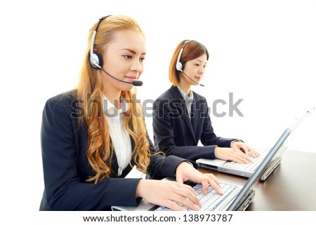 Customer services operators - stock photo